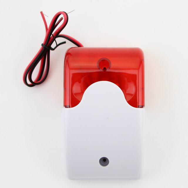 Mini Indoor Wired Siren with Red Light